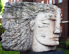 Emily Young / 'Archangel Michael - The Protector' (Images George Rex) Tags: uk england sculpture london unitedkingdom britain head stonecarving carving publicart onyx religiousart emilyyoung imagesgeorgerex photobygeorgerex archangelmichaeltheprotector