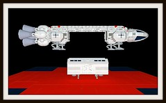 Eagle transporter - MLCAD + Kerkythea - Space 1999 (mattingly3900) Tags: lego eagle space 1999 spaceship moonbase cosmos transporter