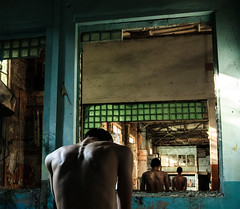 Untitled (Sergio Varanitsa) Tags: boy portrait selfportrait man building art abandoned strange sergio architecture naked weird back body creative surreal double creepy odd selfie varanitsa