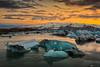 Jökulsárlón 0:30 am Sunset (Fabio tomat) Tags: sunset sun lake mountains ice water clouds iceland nikon tramonto lagoon glacier midnightsun jökulsárlón glacial ghiaccio ghiacciaio islanda d600 nikon2470f28ed fabiotomat