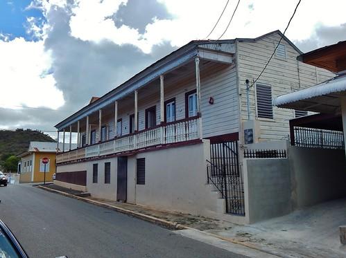 Residence at Mario Braschi St. intersection Santiago Iglesias, Coamo, Puerto Rico.