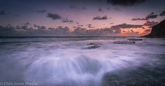 Summer Waves Southerndown (Chris 656) Tags: sunset sea sky sun seascape beach wales clouds canon coast rocks waves bridgend southerndown