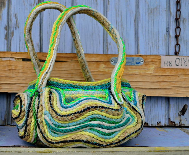 recycled rope baskets bags bowls