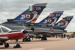 TTTE Anniversary Tails (FerretFingers) Tags: airshow tornado fairford riat royalinternationalairtattoo panavia trinationaltornadotrainingestablishment