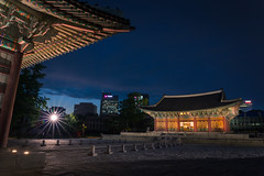Palace In Night (KOLYO_99) Tags: road street old city travel sunset color history me beautiful skyline architecture canon landscape fun asia raw cityscape photographer village nightscape outdoor like palace korea korean seoul saudi area daytime khalid  namsan     14mm      samyang tamron2470  rokinon