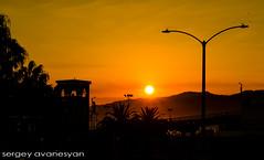 Orange (sergey_avanesyan) Tags: california sunset sky orange sun art socal magichour