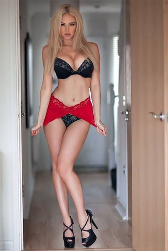 Hot blonde lingerie models