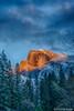 Yosemite Valley - Half Dome Sunset_HDR_1342_43_44_45_46 (www.karltonhuberphotography.com) Tags: 2015 california clearingstorm clouds drama forest geology goldenlight halfdome iconic karltonhuber landscape light mountain nature outdoors sky sunset verticalimage weather wildplaces yosemite yosemitenationalpark yosemitevalley