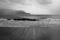 Copy of Kauai b&w45-2 (chiarina2016) Tags: kauai hawaii island beach monotone blackandwhite chiarinaloggia stormyseas waves trails hiking surf hanalei hanaleibeach sea ocean surfing balihai