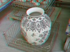 Delftware 3D (wim hoppenbrouwers) Tags: anaglyph stereo redcyan delftware 3d deporceleynefles vaas vase