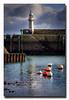 The Lighthouse (jeremy willcocks) Tags: mevagissey cornwall uk england colour lighthouse seadefence seawall bouys reflection clouds sky jeremywillcocks wwwsouthwestscenesmeuk fujixt1 xf50140mm