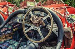 Oldtimer (Paul B0udreau) Tags: fountaingardens paisley scotland leathergloves blanket interior automobile car kit