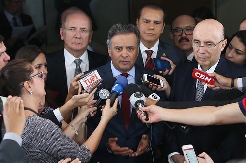 Aécio Neves - Encontro com Henrique Meirelles - 14/12/2016