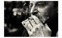 smoke (partis90) Tags: fujifilm xpro1 fuji fujinon 35mm 14 lens monochrome sw schwarzweiss people bw portrait photography