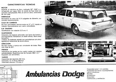 1967 Dodge Ambulance by Barreiros (Spain) (aldenjewell) Tags: 1967 dodge dart ambulance station wagon barreiros sa spain brochure