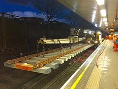 West Hampstead 18A/B junctionwork renewal 28/1/17 (P Way Owen) Tags: underground london westhampstead crane rail 250 kirow