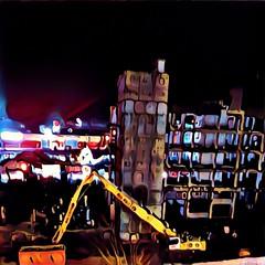 Noch ein Bagger per Schwertransport in der Nacht (eagle1effi) Tags: eagle1effi herma bonlanden bestof beste bilder filderstadt region stuttgart fabrikstrasse nachbearbeiten ppc postprocessing bau architektur germany fotoecke papierwaren maschinenbau hermabau sulzer morat raiffeisenstr fabrikstr raiffeisenstrasse papierfabrik paper plant fotoecken adhesive regionstuttgart fildern filderebene