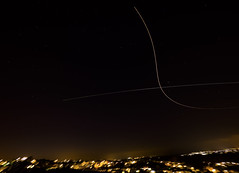 ISS Trail Crossed By Aircraft (jonskids) Tags: troopershill bristol polarie iss