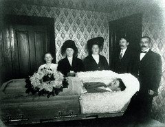 In Repose (Midnight Believer) Tags: coffin casket death funeral deceased postmortem corpse unknown homeinterior dead retro 1910s