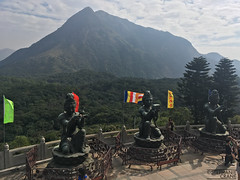 The Six Devas statues at the Tian Tan Buddha on Lantau Island, Hong Kong (okaystephanie) Tags: hong kong travel culture china history urban spaces cityscapes ferris wheel skyscrapers street art asia modern chinese architecture nature buddha tian tan statues sky lifts trams signs signage