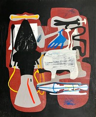 Jim Harris: Prototype VIII (Jim Harris: Artist.) Tags: art arte painting konst kunst taide space technology weltraum jim harris maalaus lartabstrait avantgarde schilderij cosmos black silver gold