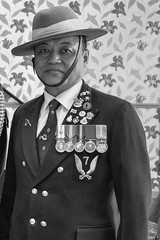 Portrait Of A Gurkha (IAN GARDNER PHOTOGRAPHY) Tags: nepal nepali nepalese gurkha army british soldier hat gurkhahat asian decorated medals standardbearer blackdiamond