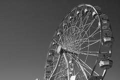 Big Wheel (sandraengstrom) Tags: blackandwhite calgarystampede calgary