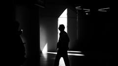 Untitled (R▲F▲VT) Tags: passengers silhouettes streetphoto streetcompo human humaningeometry humanfactor blackandwhite darkness lights shadows creativeshadows fujifilm xpro1 xgear 35mm