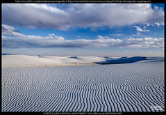 White and Blue (Praveen's PRotography) Tags: white sands national monument usa new mexico alburquerque desert gypsum dunes clouds lines landscapes nikon d7000 february 2012 wide angle