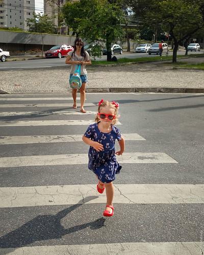Chegando na praça