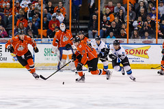 "Missouri Mavericks vs. Wichita Thunder, February 3, 2017, Silverstein Eye Centers Arena, Independence, Missouri.  Photo: John Howe / Howe Creative Photography • <a style=""font-size:0.8em;"" href=""http://www.flickr.com/photos/134016632@N02/32591260951/"" target=""_blank"">View on Flickr</a>"