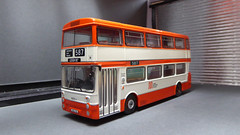 Greater Manchester Daimler Fleetline. (ManOfYorkshire) Tags: 8001lh gm standard manchester greatermanchester daimler fleetline doubledecker orange white efe diecast 176 scale oogauge xbu1s route587 leigh diorama scratchbuilt detail detailed effort