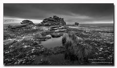 Great-Mis-Tor-2 (jeremy willcocks) Tags: greatmistor dartmoor devon uk england tor granite mono blackandwhite water pools flagpole redds sky jeremywillcocks wwwsouthwestscenesmeuk fujixpro2 xf1024mm landscape