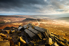 Higger Tor (J C Mills Photography) Tags: peakdistrict higger tor carl wark longshaw estate national park gritstone winter light heather bracken landscape clouds