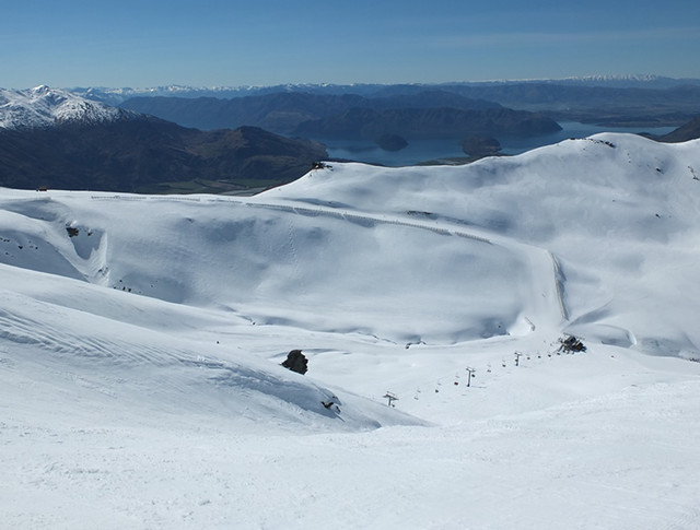 Saddle Basin from Payback, Treble Cone NZ (18 September 2013)