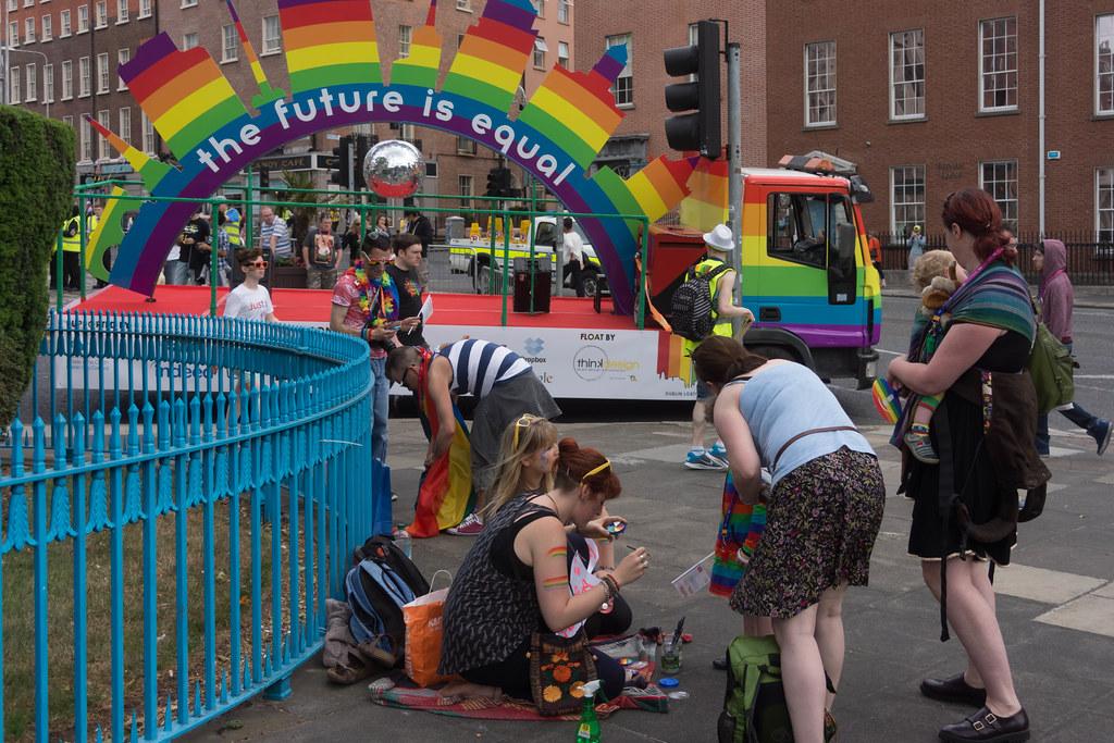DUBLIN 2015 LGBTQ PRIDE FESTIVAL [PREPARING FOR THE PARADE] REF-106214