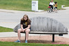 Milwaukee WI 050 (Rob Slaven.) Tags: city amanda wisconsin bench downtown milwaukee teenager grumpy amandaslaven