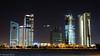 The rising skyscrapers... (EHA73) Tags: nightphotography skyline buildings construction skyscrapers towers highrise kuwait kuwaitcity الكويت leicamp summiluxm11450asph typ240 risingtowers