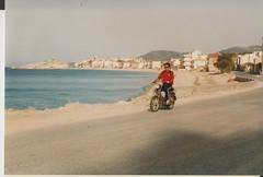 Samos Island Moped ride (redchillihead) Tags: warren smart greece turkey 1989 samos island moped ride 1980s oe kiwi traveller