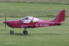 G-SINN - 2014 build Evektor EV-97 Eurostar SL, departing from Runway 26L at Barton (egcc) Tags: manchester eurostar miller barton cityairport ev97 aerotechnik evektor egcb rotax912 lightsportaviation eurostarsl 20144203 ev97sl gsinn