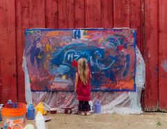 A Girl Painting (peaceblaster9) Tags: california summer art girl festival painting child creative vsco vscofilm