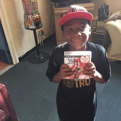 Kavante looks very happy with his belated birthday gift from the @Comm_Trust Happy Birthday Kavante! http://t.co/zdRtJAol9w