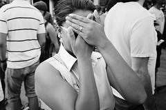 Hide (Yuli Mitsner) Tags: street party blackandwhite bw white toronto ontario canada black monochrome dancing stclair candid drinking hide salsa clair candidshot