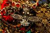 Queen Bee (susancvineyard) Tags: red jewelry bee sparkle pile ruby jewels treasures queenbee necklance susanvineyard