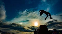 Backflip (bradwendes) Tags: sunset summer sky silhouette festival clouds awesome extreme lifestyle tricks gymnastics freerunning essex flips parkour tumbling 2015 tricking freerun brownstock 3run teamkinetix httpwwwteamkinetixcouk parkourteam bstk2015