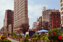 Flatiron Building, Fifth Avenue, Broadway, and 23rd Street, Manhattan (Jeffrey) Tags: morning summer manhattan broadway july 5thavenue midtown nomad fifthavenue monday flatironbuilding 23rd flatiron madisonavenue madisonsquare 23rdstreet 23rdst 2015 flatirondistrict midtownsouth 23st midtownsouthcentral