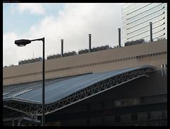 Ode to lamppost (PavelTitov) Tags: post cityscape availablelight urban pentax osaka japan lamp