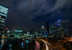 Melbourne lights (damdiv) Tags: melbourne longexpo longexposure cityscape skyline lights lighttrails slow city night samyang wideangle 14mm australia victoria