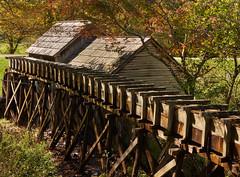 Mabry Mill water conduit (Tim Ravenscroft) Tags: conduit wood mabrymill fall autumn virginia usa blueridgeparkway
