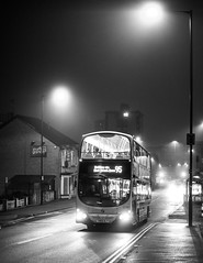 First Bus (karl101) Tags: sheffield fog morning early